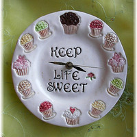 Cupcakes clock  home decor Keep Life Sweet