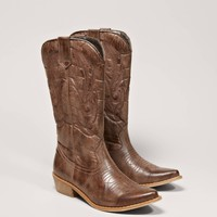 AEO Women's Stitched Cowboy Boot (Tan)