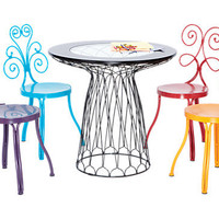 Le Jardin Table and 4 Chairs Set