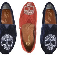 TOMS Beaumont Skull Slip-On - Neiman Marcus
