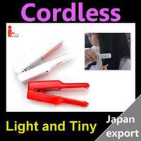 iCO Rechargeable Battery Use Cordless Mini Hair Style Straightener Red (Japan)
