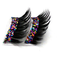 Dramatic Party Mix Glitter Faux Eyelashes by BedazzledbyErin