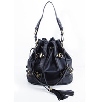 Black Drawstrings Two Ways To Use Handbags : Fashionwholesale4u.com