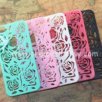 5 color for choice Floral iphone 5 Case mint bird in by OneLoveLi