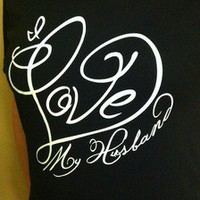 The Love Shirts — I Love My Husband T-Shirt (Black V-Neck)