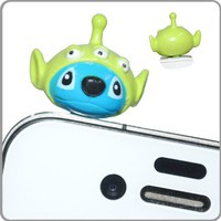 Amazon.com: Disney - New 3D Stitch in 3 Eyes Alien 3.5mm Headphone Anti-Dust Plug Cap for iPhone 4 4S Samsung HTC: Cell Phones & Accessories