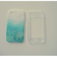 Ombre Iphone Lace Case in the NEW Mintalicous by debonairbandit