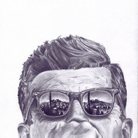 $20.00 JFK Graphite Sketch Print by OkFineDandy on Etsy