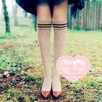 Sweet Soul Shop | Knitted Thigh Socks | Online Store Powered by Storenvy