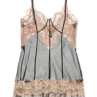 La Perla|Lace and tulle chemise|NET-A-PORTER.COM