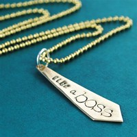 Like a Boss Necklace - Spiffing Jewelry