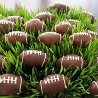 Football cake balls by SugarNspicePatisseri on Etsy