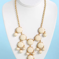 Creme de la Gem Statement Necklace