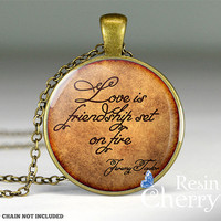 Jeremy Taylor love quote jewelry pendant,vintage love resin pendants,quote pendant- Q0088CP