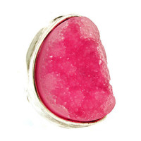 Pree Brulee - Fuchsia Geode Ring