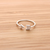 cupid's ARROW ring with crystals, 2 colors | girlsluv.it