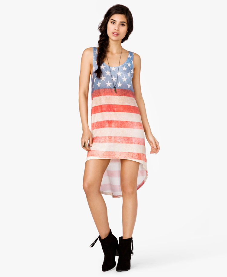 High Low American Flag Dress from Forever 21 Dresses 1XtygoCK