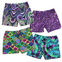Wild Print Poly-Lycra Compression Shorts-longstreth