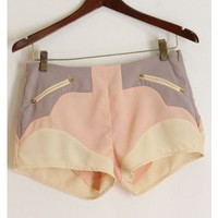 Pastel Color Block Shorts