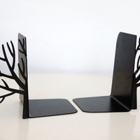 Minimalistic bookends Winter trees by DesignAtelierArticle