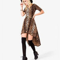Leopard Print High-Low Dress | FOREVER 21 - 2021447066