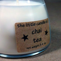 Soy Jar Candle Chai Tea Scented Little Jar by littlecandles