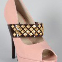 Bumper Riva-32 Two Tone Mary Jane Pump