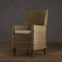 Handwoven Rattan Armchair
