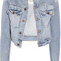 TEXTILE Elizabeth and James | Sid distressed stretch-denim jacket | NET-A-PORTER.COM