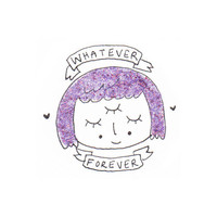 Whatever Forever Glitter Sticker