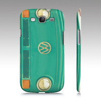 Groovy - Samsung Galaxy S3 Case, iPhone, iPod - VW, aqua, teal, bus, microbus, hippie, hipster, boho