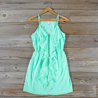 Aqua Smoke Dress, Sweet Women's Bohemian Clothing