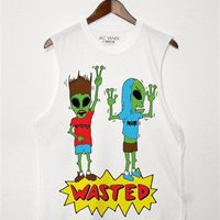 WASTED ALIENS Unisex Muscle Tee