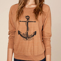 Refuse to Sink Anchor Eco Slouchy Pullover Sweater