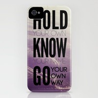 Go Your Own Way iPhone Case by Galaxy Eyes | Society6
