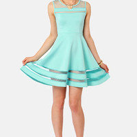 Final Stretch Mint Blue Dress