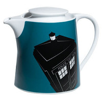"""Doctor Who"" Doctor Who Home: Blue TARDIS Teapot at BBC Shop"