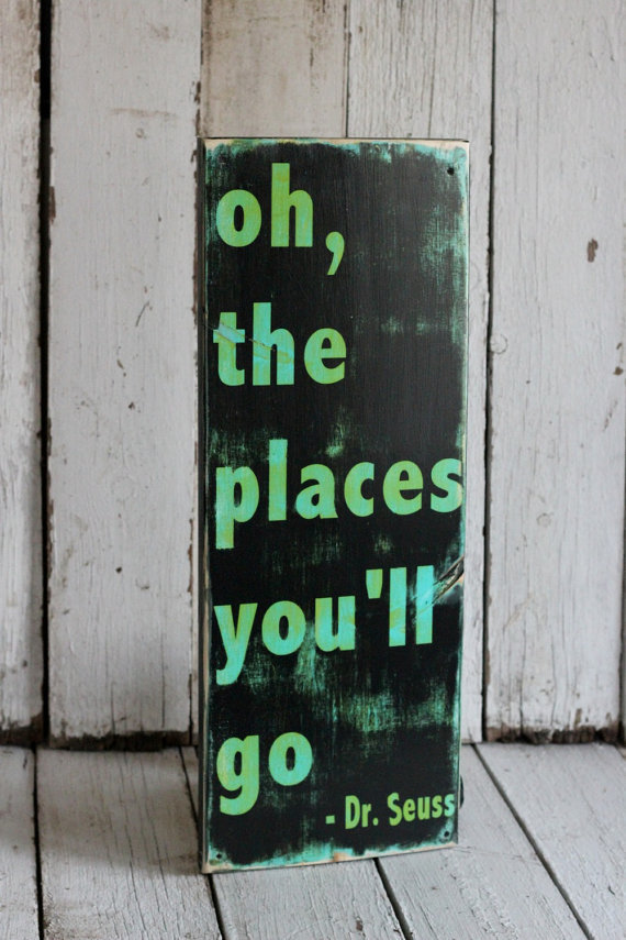 Dr Seuss Hand Painted and distressed sign by MannMadeDesigns4