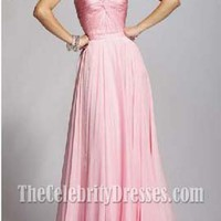 Elegant Pink Long Prom Gown Evening Dresses Formal Bridesmaid Dress - TheCelebrityDresses