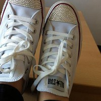 Swarovski crystal customised converse from blingmeupx