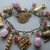 French Patisserie Charm Bracelet and Earrings Set by SilverTrumpet