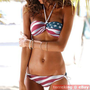 STARS and STRIPES Padded Strapless BIKINI AMERICAN FLAG Swimsuit 2pcs Swimwear