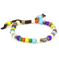 M.Cohen Handmade Designs Multi-Colored African Glass Trading Bead Bracelet: Jewelry: Amazon.com