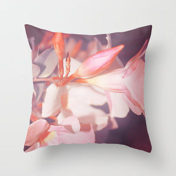 Just Peachy Throw Pillow by Sabine Doberer | Society6