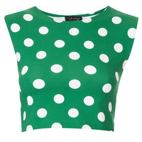 Spot Stretch Crop Top - Jersey Tops - Clothing - Topshop