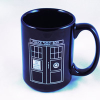 Doctor Who Mug Tardis Coffee Mug Blue Ceramic Tea Cup