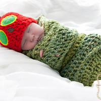 The very Hungry Caterpillar Hat and Cocoon