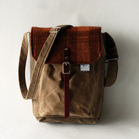 The Explorer Bag in Wool Plaid by sketchbook on Etsy