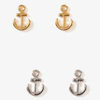 Anchor Earring Set | FOREVER 21 - 1011409624