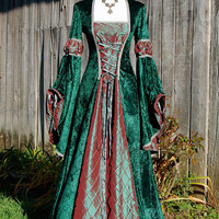 Romantic medieval inspired Dress/ Gown Size Medium